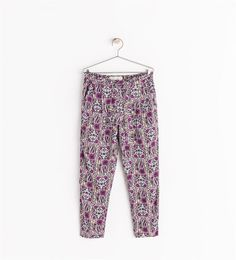LOOSE-FIT PRINTED TROUSERS from Zara Girls AW14