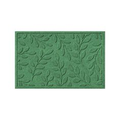WaterGuard Brittany Leaf Indoor Outdoor Mat, Green