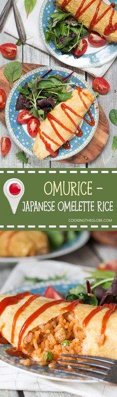 """Omurice is a Japanese dish which got its name from a combo of words """"omelette""""…"""