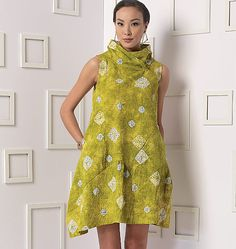 """Marcy Tilton's new dress pattern which I have christened the """"bubble dress"""".  Interesting design and cute dress for summer."""