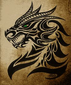 Tattoos And Body Art tribal dragon tattoo Tattoo Tribal, Tribal Dragon Tattoos, Small Dragon Tattoos, Chinese Dragon Tattoos, Dragon Tattoo Designs, Tribal Tattoo Designs, Tribal Art, Black Dragon Tattoo, Tribal Tattoo Pictures