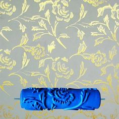3D Rubber Wall Decorative Paint Roller, free shipping option to most countries worldwide. For best shopping experience visit us, trainedtools.com Paint Rollers With Designs, Patterned Paint Rollers, Paint Designs, Emboss Painting, Blue Painting, Painting Tools, Wall Patterns, Painting Patterns, Planer Cover