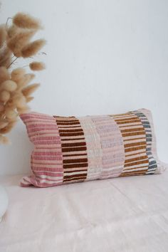 ----- The piece is unique, and will just be produced once in a life time. Textiles, Textile Patterns, Color Patterns, Textile Tapestry, Home Textile, Quilted Pillow, Room Accessories, Fabric Manipulation, Cushion Fabric