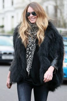 Elle MacPherson Photos Photos - Super model Elle MacPherson is seen on the school run in West London. Elle opted to wear this seasons must have; a warming faux fur gilet, but when will the costume rental shop get there gorilla costume back!. - Elle MacPherson in West London