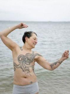 Great Octopus Chest Piece; mastectomy tattoo