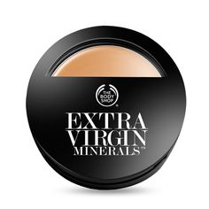 The Body Shop Extra Virgin Minerals Compact Foundation. Nice coverage that almost looks airbrushed. Rose Ivory is my shade, the lightest pink-toned shade, but Natural Vanilla is the second lightest pink tone, I might be in between them.