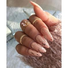 55+ Chrome Nail Art Ideas ❤ liked on Polyvore featuring beauty products, nail care, nail treatments and nails