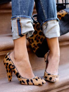 Leopard Pumps.
