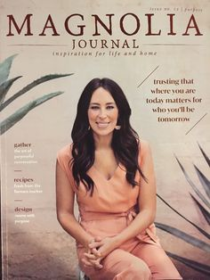"Joanna Gaines wearing Saturn Earrings in color ""Sand"" for Magnolia Journal - Issue No. Joanna Gaines Style, Chip And Joanna Gaines, Chip Gaines, Wood Magazine, Magazine Design, Source Of Inspiration, Journal Inspiration, Fitness Inspiration, Magnolia Journal Subscription"