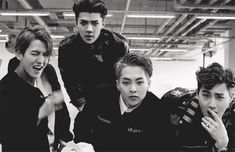 Baekhyun, Sehun, Xiumin, Suho (gif) Call Me Baby