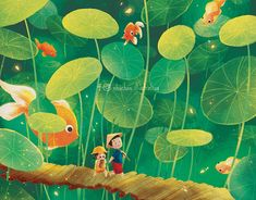 TẾT 3 MIỀN / BY NHUCHAN / VIETNAM TRADITIONAL HOLIDAY on Behance Children's Book Illustration, Digital Illustration, Drawing For Kids, Art For Kids, Vietnam Holidays, Watercolor Succulents, Banner Images, Garden Painting, Fantasy Character Design