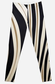 'Zebra Stripe Print For Animal Lover' Leggings by Bithys Online Awesome Leggings, Best Leggings, Christmas Shopping, Hoodies, Sweatshirts, Stripe Print, Chiffon Tops, Stationery, Greeting Cards