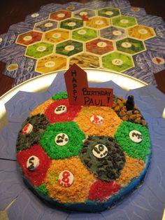 Settlers of Catan cake... SWEET!!!