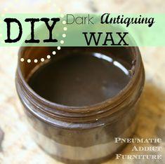 DIY Dark Antiquing Wax (And a Dresser Re-do)