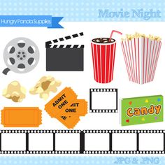 Movie Night digital clipart theater clipart at the movies clip art movie clipart Movie Clipart, Kino Box, Movie Reels, Outdoor Movie Nights, Movie Themes, Movie Theater Theme, Family Movie Night, Movie Party, Art File
