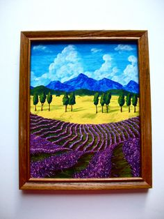 Lavender In Provence ORIGINAL ACRYLIC PAINTING 8 x by MikeKrausArt