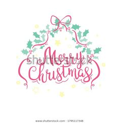 Merry Christmas Typography, Text Design, Royalty, Greeting Cards, Logos, Artist, Free, Royals, Logo