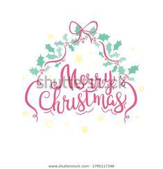 Merry Christmas Typography, Text Design, Royalty Free Stock Photos, Greeting Cards, Logos, Illustration, Artist, Image, Logo