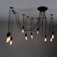 Lampe de plafond ampoule Edison suspendu par LightwithShade