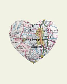 Antique Tacoma Washington city map Places weve been and the