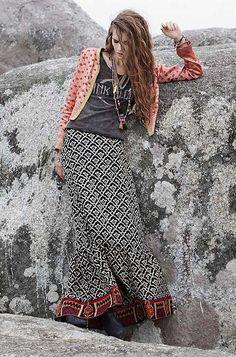 ╰☆╮Boho chic bohemian boho style hippy hippie chic bohème vibe gypsy fashion indie folk the . Gypsy Style, Boho Gypsy, Hippie Style, Bohemian Style, Bohemian Fashion, Moda Hippie, Moda Boho, Boho Chic, Hippie Chic
