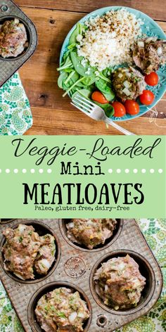 Veggie-Loaded Mini Meatloaves!  Meatloaf in a muffin tin?! Yes, I went there. And I added veggies too....because why the heck not!? Grain-free, whole30 compliant, and easy to throw together with tons of leftovers to enjoy later! Real food in real life just keeps getting easier. #paleo #whole30 #glutenfree #dairyfree #veggieloaded