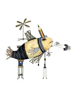 Fish Illustration, via Etsy.