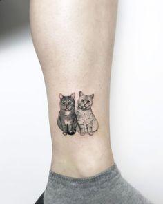48 Totally Cute Cat Tattoo Ideas For Women - VIs-Wed Tattoos And Body Art cat tattoo Dog Tattoos, Body Art Tattoos, Girl Tattoos, Tattoos For Guys, Sleeve Tattoos, Best Leg Tattoos, Crazy Tattoos, Buddha Tattoos, Hand Tattoos