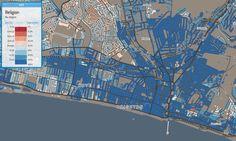 Brighton no-religion map