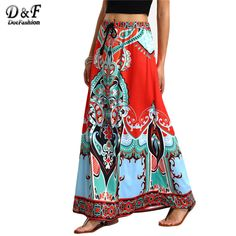Dotfashion Vintage Ladies Summer Style Printed Woman New Arrival 2016 Shift Long…