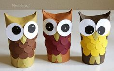 Kids Crafts, Cute Crafts, Fall Crafts, Christmas Crafts, Arts And Crafts, Christmas Paper, Toddler Crafts, Upcycled Crafts, Paper Towel Roll Crafts