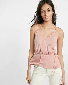v-neck wrap cami