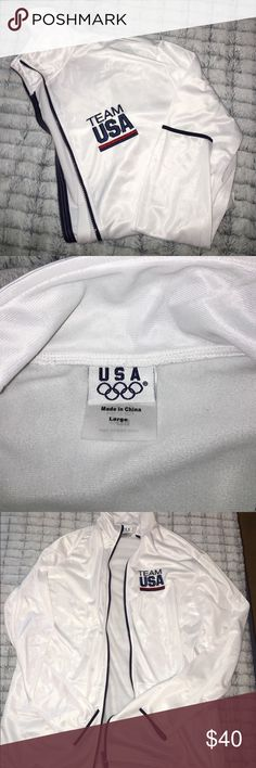 Team USA Zip Up White team USA zip up sweatshirt Tops Sweatshirts & Hoodies
