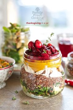 Thanksgiving Recipes : Thanksgiving in a Jar #Thanksgiving #Recipe #Turkey #Holiday