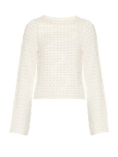SEE BY CHLOÉ Crew-Neck Cotton Sweater. #seebychloé #cloth #sweater