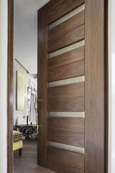 Trendy House Entrance Design Entryway The Doors Bedroom Door Design, Door Design Interior, Main Door Design, Wooden Door Design, Front Door Design, Entrance Design, Bedroom Doors, The Doors, Wood Doors