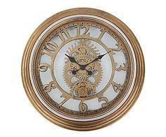 : Orologio da parete con ingranaggi decorativi a vista old times - 50x50x5 cm