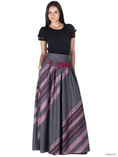 Faldas Largas Rayadas Tall Girl Fashion, Modest Fashion, Hijab Fashion, Maxi Skirt Tutorial, Long Skirt Outfits, Stylish Girl Images, Mode Hijab, Vintage Denim, Classy Outfits