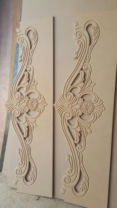 Door designs engraving and cutting services in UAE sharjah Offering cutting services for wood aluminium and MDF/HDF materials. Cnc Wood Carving, Wood Carving Faces, Wood Carving Designs, Wood Carving Patterns, Wood Patterns, Wooden Door Design, Wooden Art, Wooden Doors, Wood Design