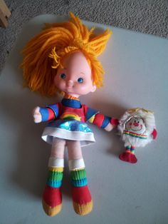 1980s Rainbow Bright doll with sprite by KibbsCreations on Etsy, $25.00 My most memorable, and favorite toy of my childhood. She met a very unhappy end at the hands of an evil boarder patrol officer. I will own her again soon.