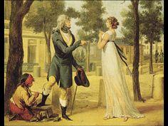 La vestimenta en el neoclasicismo se caracteriza por la influencia francesa en y el amor por los clásicos de la antigüedad.