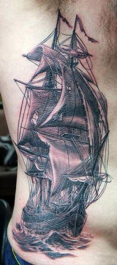 http://tattooideas247.com/side-sailing-ship/
