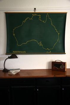 vintage lamp, radio & school map of australia – We collect similar ones – Only/Once – www.onlyonceshop.com