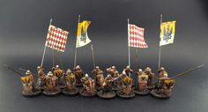 ~ Meanwhile ~ Somewhere in France ~ 28mm French ~ Claymore Castings French (Italian/Genoese) Pavasiers this time with Full Command and Full Resplendent Banners (Thanks to Flags of War) all part of the existing Range.