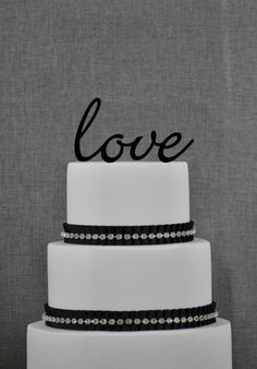 Wedding Cake Topper - LOVE word Cake Topper by Chicago Factory