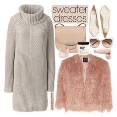 """Cozy and Cute: Sweater Dresses"" by vanjazivadinovic ❤ liked on Polyvore featuring Lands' End, Theory, Francesco Russo, CÉLINE, Plant Apothecary, Alexis Bittar, Chloé, Puma, Fall and polyvoreeditorial"