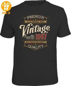 Jahrgang 1957 - Vintage - T-Shirt - Größe M - T-Shirts mit Spruch | Lustige und coole T-Shirts | Funny T-Shirts (*Partner-Link)