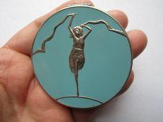 Vintage Art Deco Compact Dancing Woman 48 | eBay