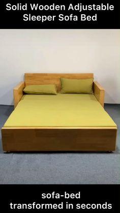 Sofa Bed Design, Living Room Sofa Design, Bedroom Furniture Design, Home Room Design, Pallet Furniture, Sofa Come Bed Furniture, Sofa Bed Wood, Sofa Bed For Small Spaces, Furniture For Small Spaces