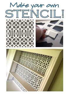 Super simple way to make your own custom stencils for next to nothing! ANY PATTERN! {Reality Daydream}